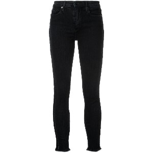 Nobody Denim Cult Comfort Skinny Ankle Velvet Edge ジーンズ - ブラック