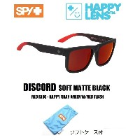 ■ SPY OPTICS スパイ【 DISCORD ディスコード 】【 SOFT MATTE BLACK - RED FADE - HAPPY GRAY GREEN W/RED FLASH ...