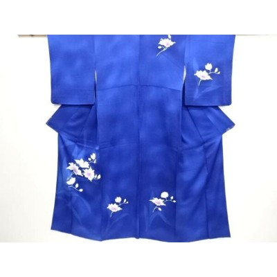 【IDN】 花模様刺繍暈し訪問着【リサイクル】【中古】【着】