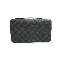 【LOUIS VUITTON】ルイヴィトン『ダミエ グラフィット ジッピーXL』N41503 メンズ ラウンドファスナー長財布 1週間保証【中古】b01b/h02A