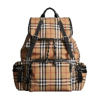 Burberry The Large Rucksack in Vintage Check - イエロー&オレンジ