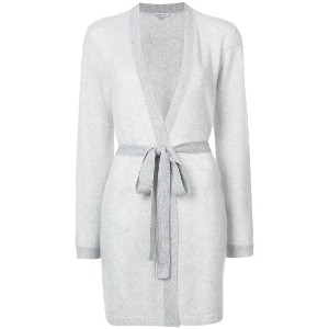 Morgan Lane cashmere Bella wrap robe - グレー