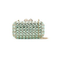 Isla Maxi Crystal clutch bag - グリーン