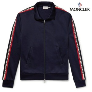 MONCLER モンクレール 2018年春夏新作 メンズ Slim-Fit Grosgrain-Trimmed Nylon And Cotton-Blend Track Jacket ストームブルー...