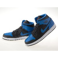 ナイキ NIKE AIR JORDAN 1 MID エア ジョーダン 1 ミッド BLUE/BLACK/TEAM ORANGE #554724-048