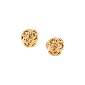 Chanel Vintage round earrings - メタリック