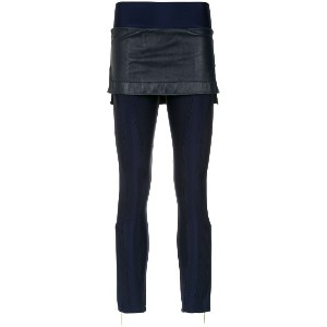 Andrea Bogosian layered skinny trousers - ブルー