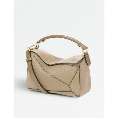 ロエベ レディース バッグ ハンドバッグ【puzzle small multi-function leather bag】Sand/mink colour