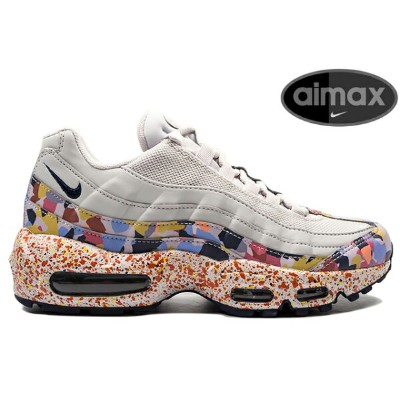NIKE WMNS AIR MAX 95 SE 918413-004 VAST GREY/MIDNIGHT NAVY-HABANERO REDナイキ ウィメンズ エア マックス 95 SE メンズ...