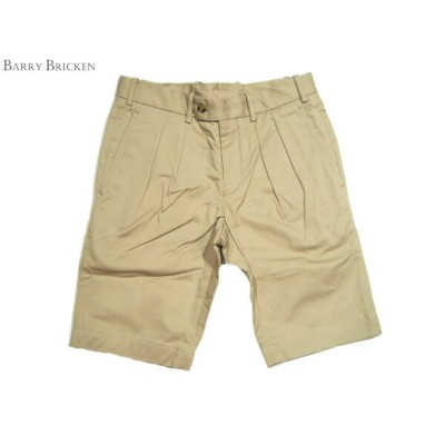 【期間限定30%OFF!】BARRY BRICKEN(バリーブリッケン)TOM PLEATED SHORTS/khaki