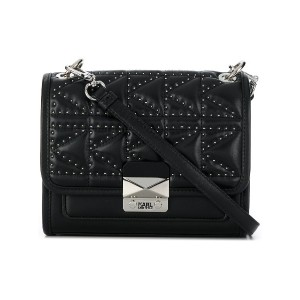 Karl Lagerfeld K/Kuilted Studs small shoulder bag - ブラック