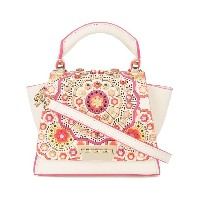 Zac Zac Posen Eartha floral appliqué mini bag - ホワイト