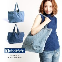 ROOTOTE(ルートート) グランデ デニム トートバッグ ヴィンテージ加工 ユーズド加工 大容量 男女兼用 【2017新作】(3144)