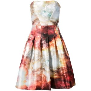 Rubin Singer printed strapless dress - Brown Multi