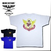 2018S/S『HOUSTON/ヒューストン』21502 PRINT TEE(PINUP GIRL) /プリントTシャツ(ピンナップガール) -全3色-/アメリカ/ロゴ/LUCKY EIGHTH...