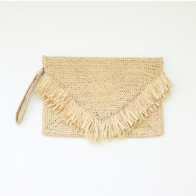【30%OFF】【即日発送・送料無料・正規品】MAISON N.H PARIS CLUTCH BAG ENVELOPPE W[NATURAL][メゾンエヌアッシュパリス フランス カゴバッグ...
