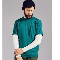 UR FREEMANS SPORTING CLUB PRINT S/S T-SHIRTS【アーバンリサーチ/URBAN RESEARCH メンズ Tシャツ・カットソー GREEN ルミネ...
