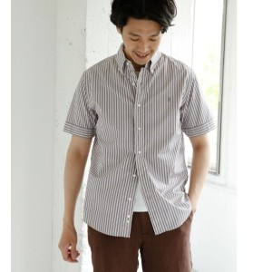 DOORS GYMPHLEX × DOORS 別注STRIPE SHORT-SLEEVE SHIRTS【アーバンリサーチ/URBAN RESEARCH メンズ シャツ・ブラウス OYSTERGRY...