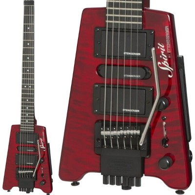 """STEINBERGER 《スタインバーガー》Spirit GT-PRO """"QUILT TOP"""" DELUXE (WR/Wine Red)【あす楽対応】"""