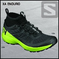 サロモン SalomonXA ENDUROBLACK/LIME GREEN/BLACK
