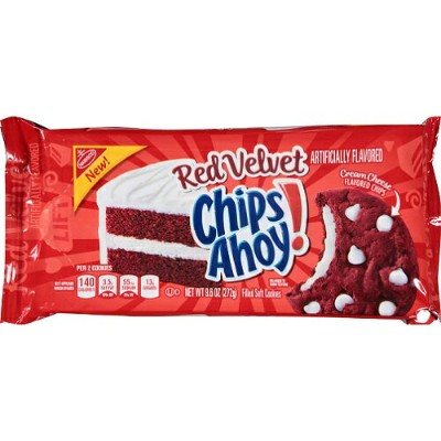Chips Ahoy Red Velvet Filled Soft Cookies 9.6 oz ナビスコ チップスアホイ レッドベルベット ソフトクッキー 272g