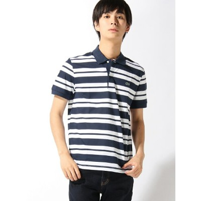 【SALE/30%OFF】LACOSTE スリムフィット ボーダー ポロシャツ (半袖) ラコステ カットソー【RBA_S】【RBA_E】【送料無料】