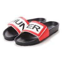 ハンター HUNTER MENS ORIGINAL ADJ LOGO SLIDE (BLK) メンズ