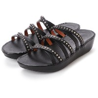 【SALE 40%OFF】フィットフロップ fitflop LINNY SLIDE SANDALS - CRYSTAL (Black) レディース