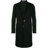 Givenchy logo button mid-length coat - ブラック