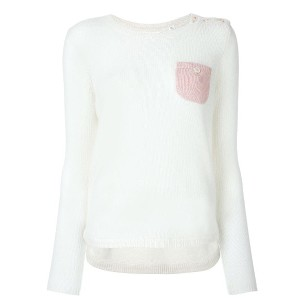 Chinti & Parker elbow patch jumper - ヌード&ナチュラル