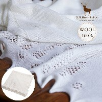 G.H.HURT & SON(ジーエイチハートアンドサン) ノッティンガムレースショール【ルイ王子モデル】 Nottingham Lace Knitted Baby Shaw 【送料無料】