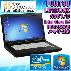 Microsoft Office Home and Business 2010セット 【中古】 ノートパソコン 富士通(FUJITSU) LIFEBOOK A561/D 15.6インチ...