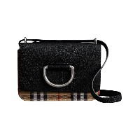 Burberry The Mini Vintage Check and Leather D-ring Bag - ブラック