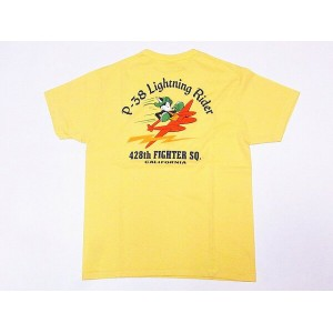 Buzz Rickson's[バズリクソンズ] Tシャツ BR78020 428th FIGHTER SQ. (イエロー)