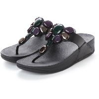 【SALE 40%OFF】フィットフロップ fitflop HONEYBEE JEWELLED TOE-THONG SANDALS (Black) レディース