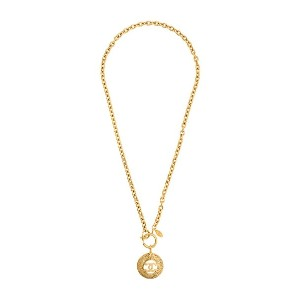 Chanel Vintage 1980s Vintage Chanel Gold Plated Coin Pendant - メタリック