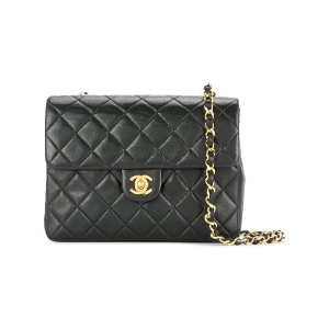 Chanel Vintage quilted flap bag - ブラック