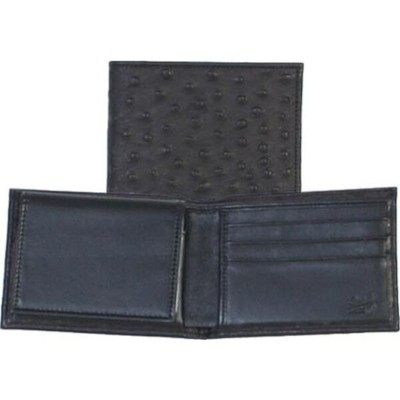 スカーリー メンズ 財布 アクセサリー Slim Billfold w/Removable Case Ostrich 2005R Black