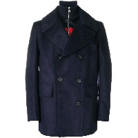 Alexander McQueen double breasted peacoat - ブルー
