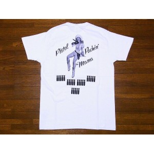 Buzz Rickson's[バズリクソンズ] Tシャツ PISTOL PACKIN' MAMA BR78024 GIL ELVGREN COLLECTION (ホワイト)