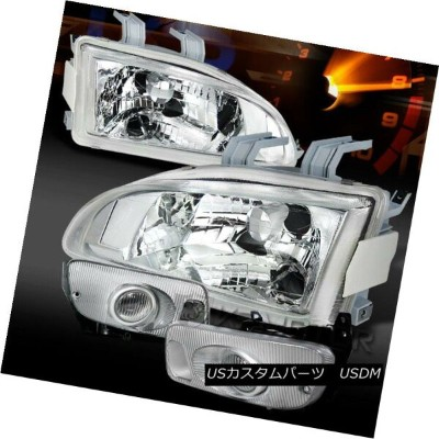 ヘッドライト Fit 92-95 Civic 2/3DR JDM Chrome Clear Headlights+Bumper Fog Lamps フィット92-95シビック2 / 3DR...