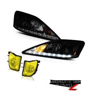 ヘッドライト JDM Golden Yellow Bumper Foglights SINISTER BLACK LED STRIP Projector Headlights JDMゴールデンイエロー...