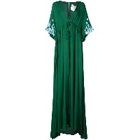 Carolina Herrera floral applique maxi dress - グリーン