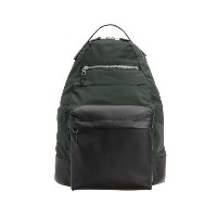 【Theory】Fuel Canvas Nylon Backpack 異素材を切り替えたシンプルなバッグパック。 グリーン 大人 セオリー