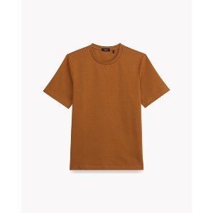 【Theory】Barrier Jersey Structure Tee オーバーサイズのクルーネック半袖Tシャツ。 オレンジ 大人 セオリー