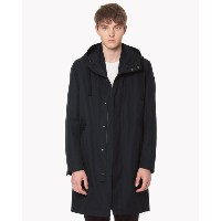【Theory】The Trench Jerome Long Parka 【30%OFF】比翼仕様のフード付きロングコート。 ブルー 大人 セオリー