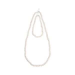 【Theory】Kong qi Pearl Necklace 【新色グレージュ登場】ショートレングス&ロング丈の二本をセットにした淡水パールネックレス。 ホワイト 大人 セオリー