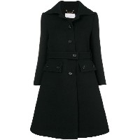 Chloé buttoned up longsleeved coat - ブラック