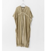 DOORS mizuiro-ind pigment dyed V neck one-piece【アーバンリサーチ/URBAN RESEARCH レディス ワンピース beige ルミネ LUMINE】