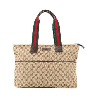 Gucci Vintage Shelly Line トートバッグ - ブラウン